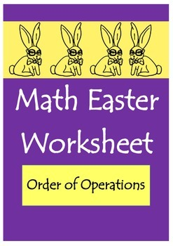 Math Easter Worksheet (Order of Operations)