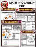Math Education Probability Powerpoint File -  Chances, Odds, Spinners PPT