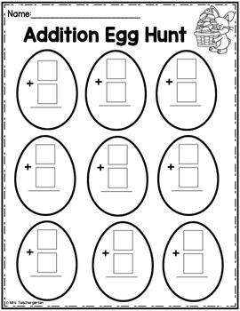 Easter Math Egg Hunt