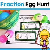 Math Egg Hunt! Equivalent Fractions, Adding and Subtracting Fraction Review