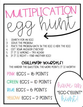 Math Egg Hunts