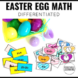 Math Facts Easter Egg Inserts