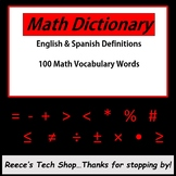 Math English Spanish Glossary