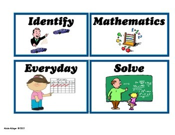 Math English Vocabulary Cards Pre-K and Kinder