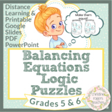 Math Logic Puzzles 5th 6th Grade Math Enrichment Distance Learning, Independent