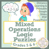 Math Enrichment Math Logic Puzzles 5th Grade 6th Grade Distance Learning