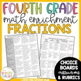 Math Enrichment Board for Fractions Fourth Grade