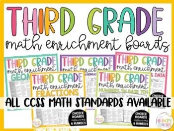 Math Enrichment Board for Fractions Third Grade