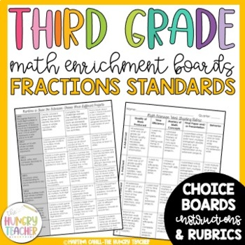 Math Enrichment Board for Fractions Third Grade