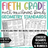 Math Enrichment Board for Geometry Fifth Grade