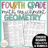 Math Enrichment Board for Geometry Fourth Grade