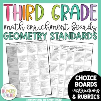 Math Enrichment Board for Geometry Third Grade