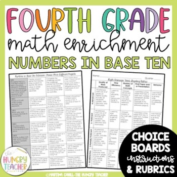 Math Enrichment Board for Numbers in Base Ten Fourth Grade