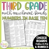 Math Enrichment Board for Numbers in Base Ten Third Grade