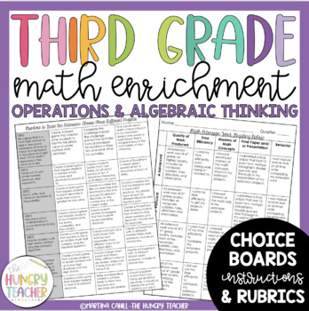 Math Enrichment Board for Operations and Algebraic Thinking Third Grade