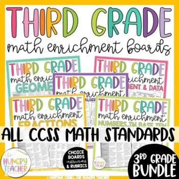 Math Enrichment Board for Third Grade **All Standards**