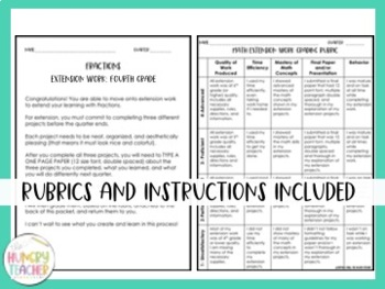 Math Enrichment Boards for Fourth Grade {All Standards}