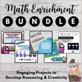 Math Enrichment Challenge Project Bundle! Digital/ Printab