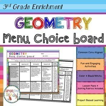 3rd Grade Math Choice Boards Bundle – Enrichment Math Menus - ALL STANDARDS