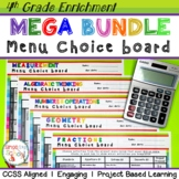 Math Enrichment Choice Board Bundle – All 4th Grade Standards