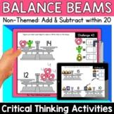Math Enrichment   Lower Grades 4th of July Balance Beams  