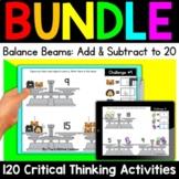 Math Enrichment   Lower Grades Balance Beams Bundle   Prin