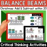 Math Enrichment   Lower Grades Christmas Balance Beams   P