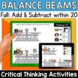 Math Enrichment   Lower Grades Fall Balance Beams   Print