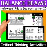 Math Enrichment   Lower Grades Halloween Balance Beams   P