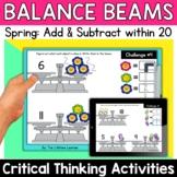 Math Enrichment   Lower Grades Spring Balance Beams   Prin
