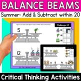 Math Enrichment   Lower Grades Summer Balance Beams   Prin