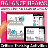 Math Enrichment   Lower Grades Valentine's Day Balance Bea