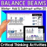 Math Enrichment   Lower Grades Winter Balance Beams   Prin