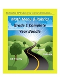 Math Enrichment Menus and Rubrics Grade 1