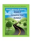 Math Enrichment Menus and Rubrics Grade 2