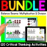 Math Enrichment   Middle Grades Balance Beams Bundle   Print and Digital