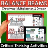 Math Enrichment   Middle Grades Christmas Balance Beams  