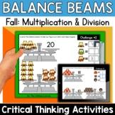 Math Enrichment   Middle Grades Fall Balance Beams   Print