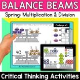 Math Enrichment   Middle Grades Spring Balance Beams   Pri