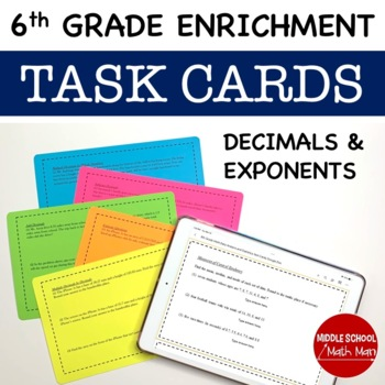Math Enrichment Problems (Decimals and Exponents) - 6th Grade