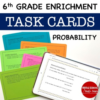 Math Enrichment Problems (Probability) - 6th Grade