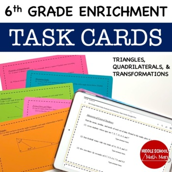 Math Enrichment Problems(Triangles, Quadrilaterals, Transformations) - 6th Grade