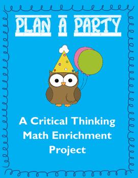 Math Enrichment Project: Plan a Party