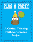 Math Enrichment Project: Plan a Party
