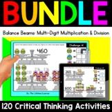 Math Enrichment   Upper Grades Balance Beams Bundle   Print and Digital