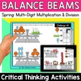 Math Enrichment   Upper Grades Spring Balance Beams   Prin