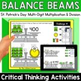 Math Enrichment   Upper Grades St. Patrick's Day Balance B