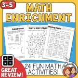 Math  No-Prep Math Printables  for Enrichment, Review, and