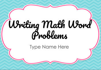 Math Enrichment: Writing Word Problems