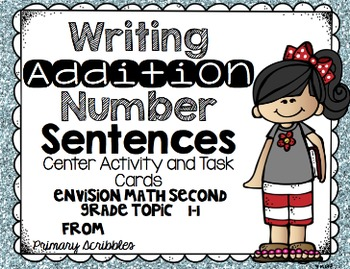 Math Envision Topic 1/Chapter 1 Grade 2 Math Center Activities/Task Card Bundle